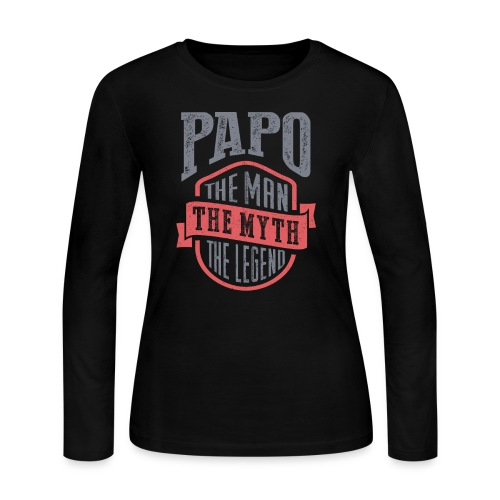 Papo The Man The Myth | T-shirt Gift! - Women's Long Sleeve Jersey T-Shirt