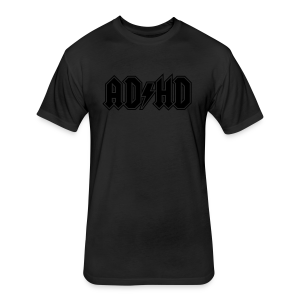 ADHD AC/DC - Fitted Cotton/Poly T-Shirt by Next Level