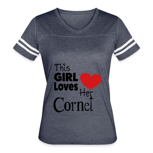 This Girl Loves Her Cornet - Women's Vintage Sport T-Shirt