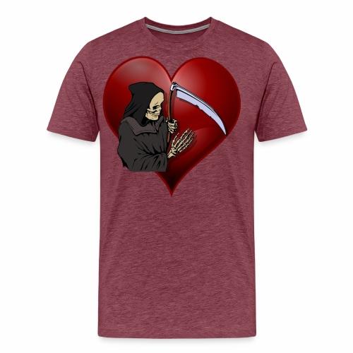 Grim Reaper Valentine - Men's Premium T-Shirt