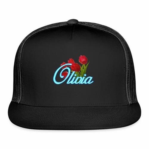 Olivia With Tulips - Trucker Cap