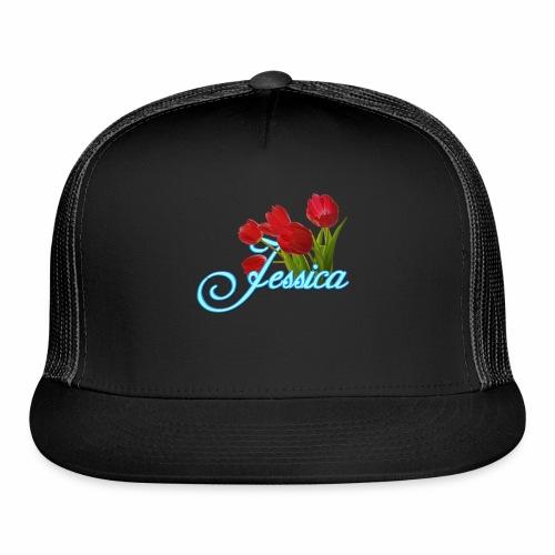 Jessica With Tulips - Trucker Cap