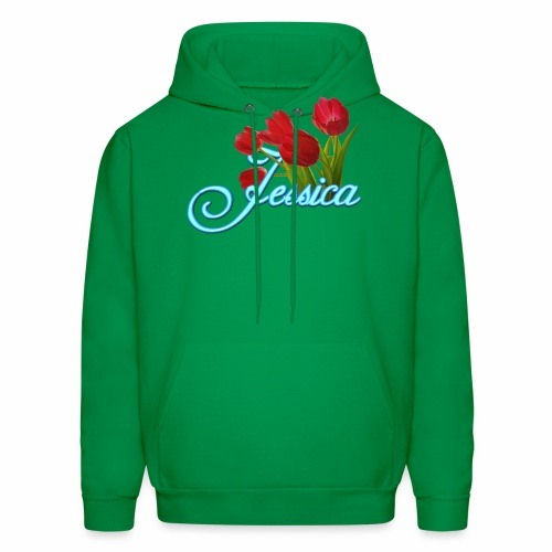 Jessica With Tulips - Men's Hoodie