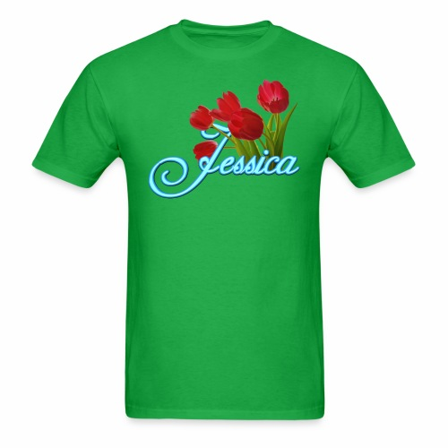 Jessica With Tulips - Men's T-Shirt