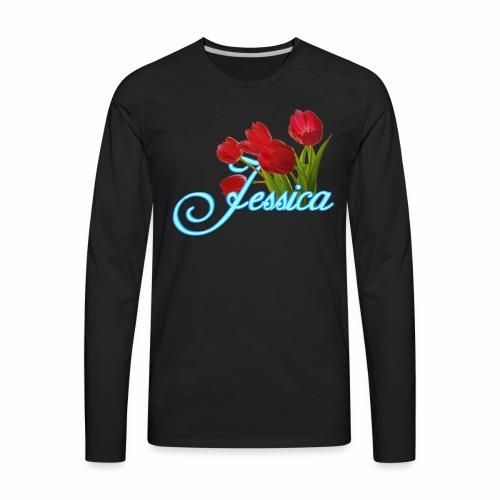 Jessica With Tulips - Men's Premium Long Sleeve T-Shirt