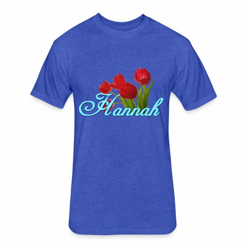 Hannah With Tulips - Fitted Cotton/Poly T-Shirt by Next Level