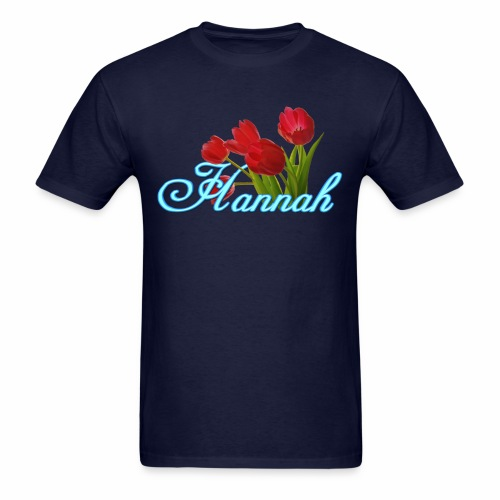 Hannah With Tulips - Men's T-Shirt