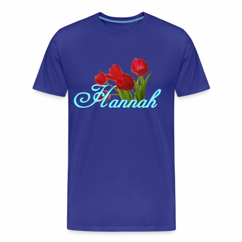Hannah With Tulips - Men's Premium T-Shirt