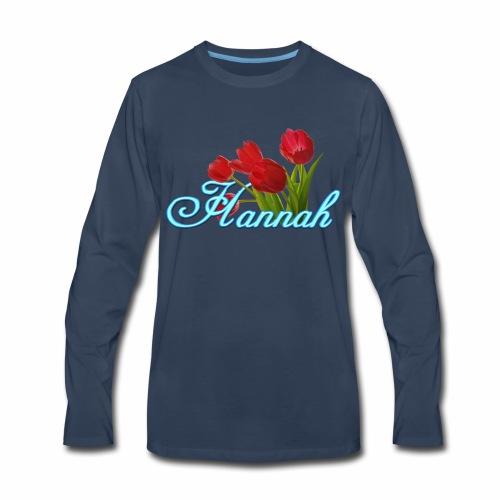 Hannah With Tulips - Men's Premium Long Sleeve T-Shirt