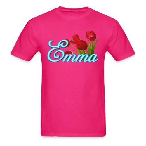 Emma With Tulips - Men's T-Shirt
