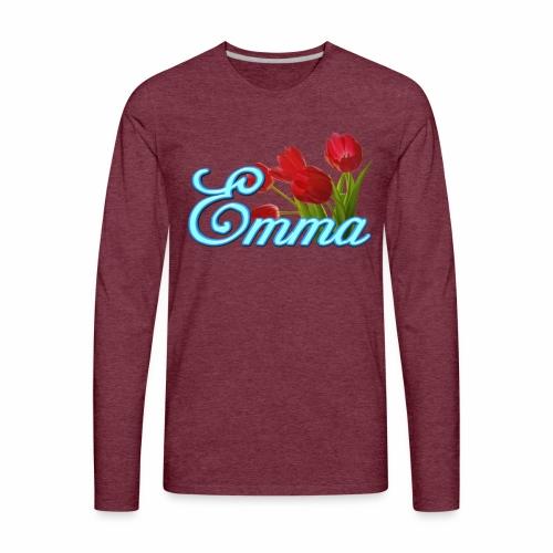 Emma With Tulips - Men's Premium Long Sleeve T-Shirt