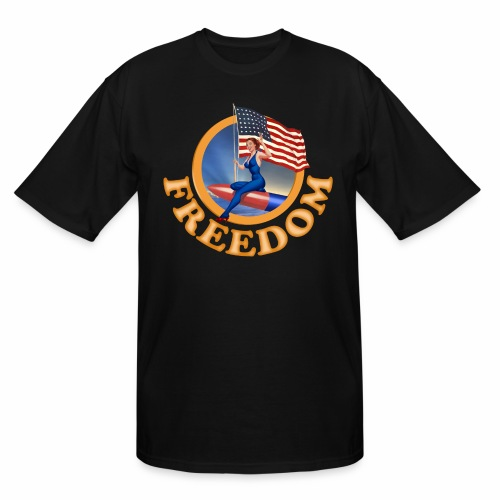 Freedom Flag - Men's Tall T-Shirt