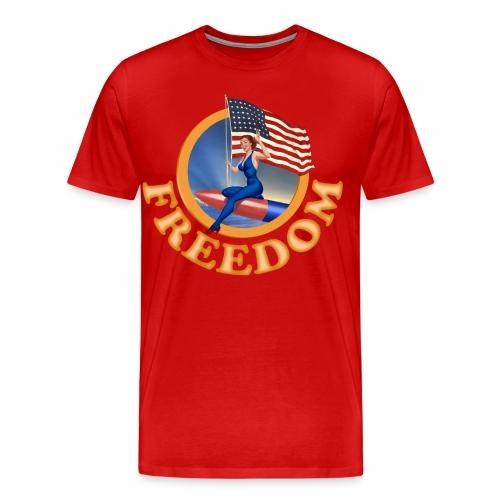 Freedom Flag - Men's Premium T-Shirt