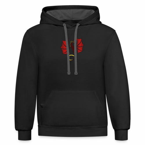 Red and Black Dragon - Contrast Hoodie