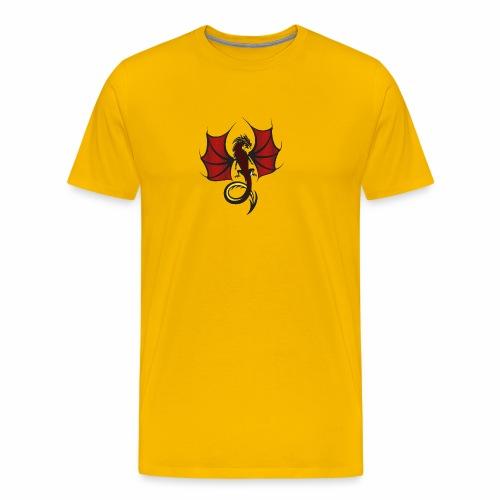Red and Black Dragon - Men's Premium T-Shirt