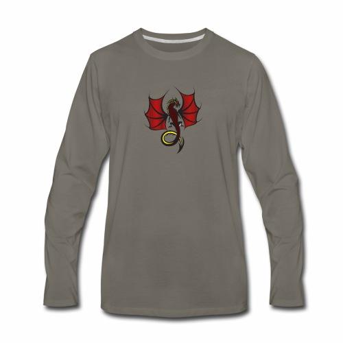 Red and Black Dragon - Men's Premium Long Sleeve T-Shirt