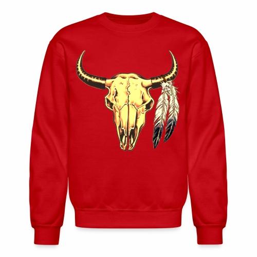 Skull with Feathers - Crewneck Sweatshirt