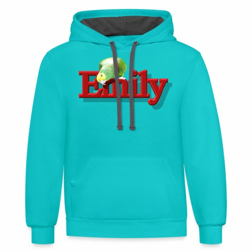 Emily With a Parrot  - Contrast Hoodie