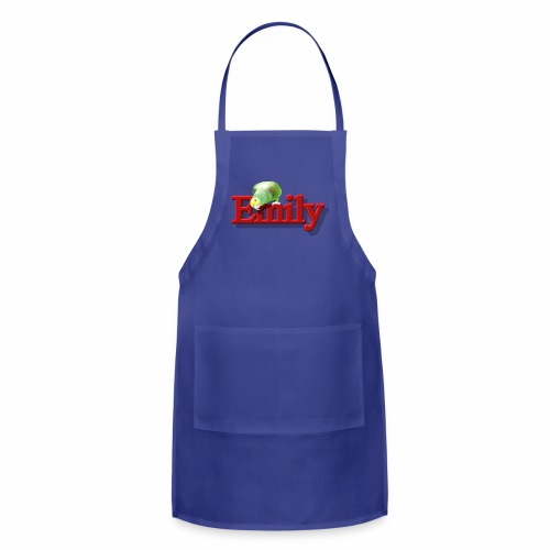 Emily With a Parrot  - Adjustable Apron