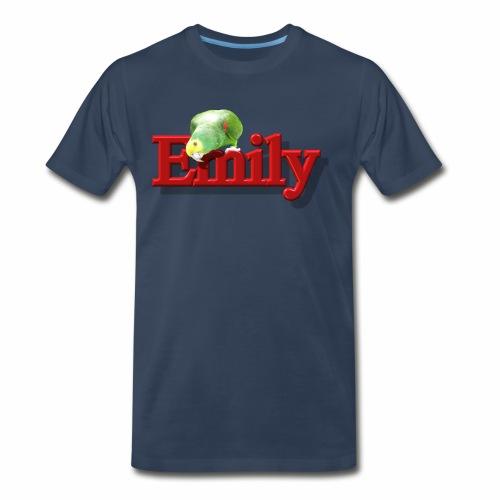 Emily With a Parrot  - Men's Premium T-Shirt