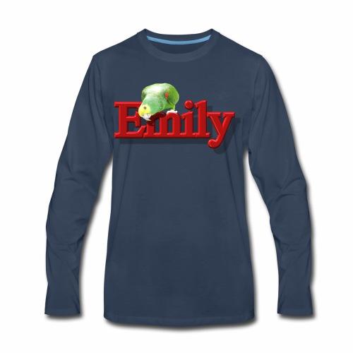 Emily With a Parrot  - Men's Premium Long Sleeve T-Shirt