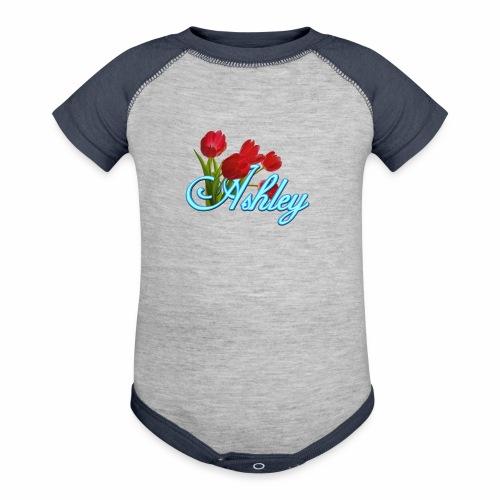 Ashley With Tulips - Contrast Baby Bodysuit