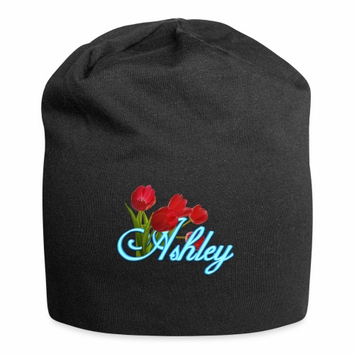 Ashley With Tulips - Jersey Beanie