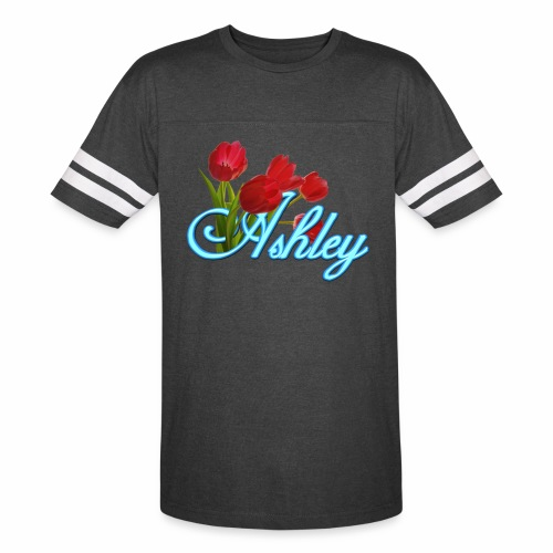 Ashley With Tulips - Vintage Sport T-Shirt