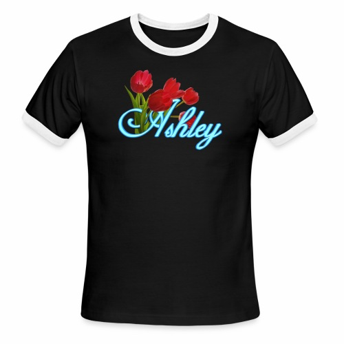 Ashley With Tulips - Men's Ringer T-Shirt
