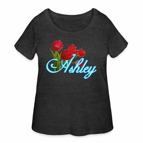Ashley With Tulips - Women's Curvy T-Shirt