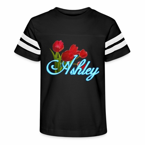 Ashley With Tulips - Kid's Vintage Sport T-Shirt