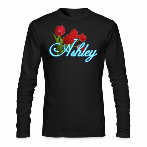 Ashley With Tulips - Men's Long Sleeve T-Shirt by Next Level