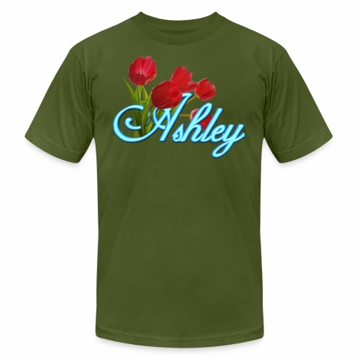 Ashley With Tulips - Men's  Jersey T-Shirt