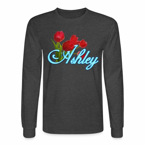 Ashley With Tulips - Men's Long Sleeve T-Shirt