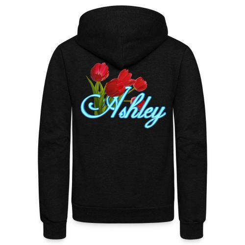 Ashley With Tulips - Unisex Fleece Zip Hoodie