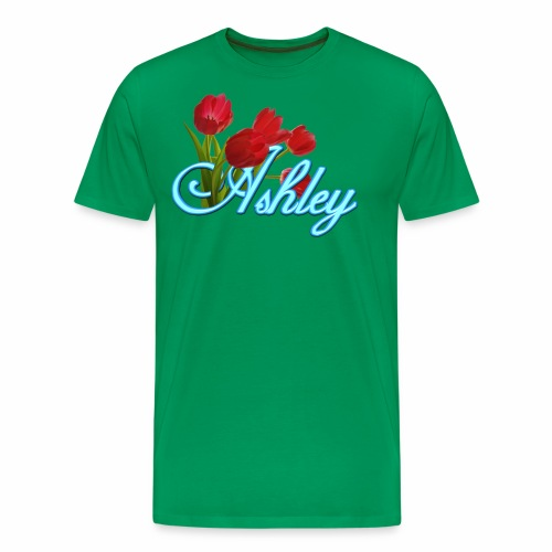 Ashley With Tulips - Men's Premium T-Shirt