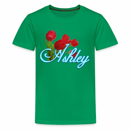 Ashley With Tulips - Kids' Premium T-Shirt