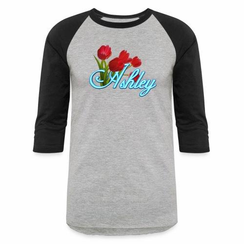 Ashley With Tulips - Baseball T-Shirt