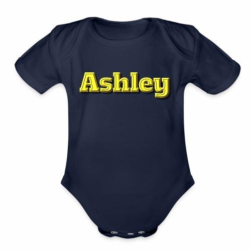 Ashley - Organic Short Sleeve Baby Bodysuit