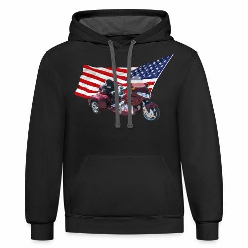 Patriotic Trike - Contrast Hoodie