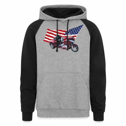 Patriotic Trike - Colorblock Hoodie