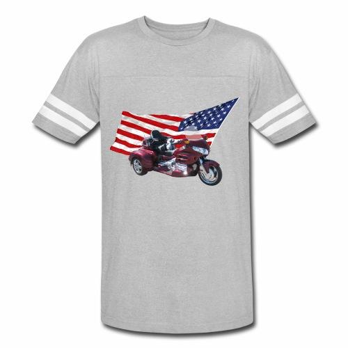 Patriotic Trike - Vintage Sport T-Shirt