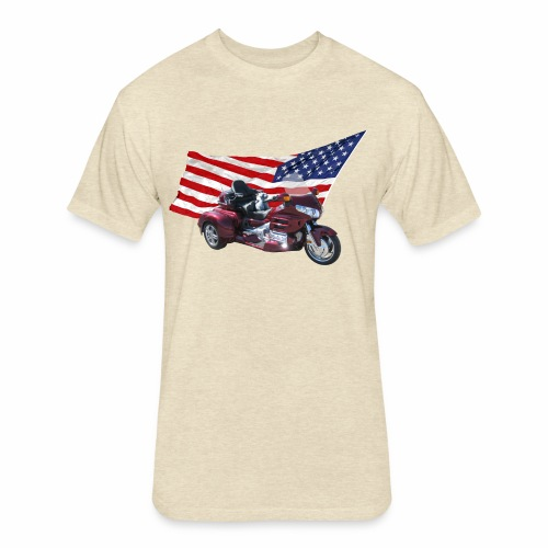 Patriotic Trike - Fitted Cotton/Poly T-Shirt by Next Level