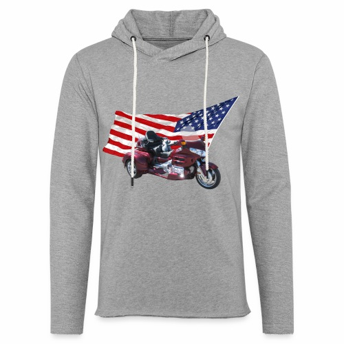 Patriotic Trike - Unisex Lightweight Terry Hoodie