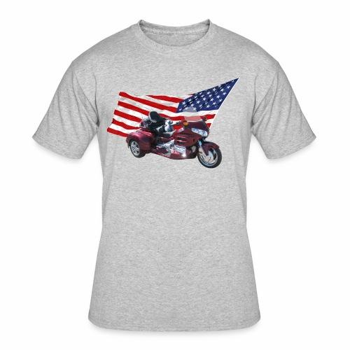 Patriotic Trike - Men's 50/50 T-Shirt
