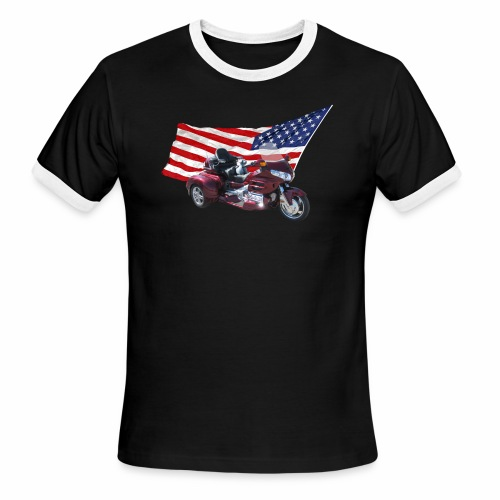 Patriotic Trike - Men's Ringer T-Shirt