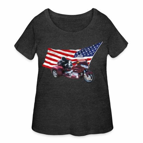 Patriotic Trike - Women's Curvy T-Shirt