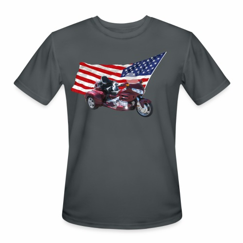 Patriotic Trike - Men's Moisture Wicking Performance T-Shirt