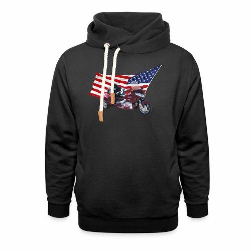 Patriotic Trike - Shawl Collar Hoodie