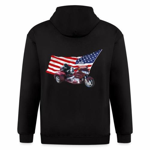Patriotic Trike - Men's Zip Hoodie